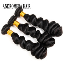 9A Mink Brazilian Human Hair Extensions Loose Weave Hair Bundles 100 Percent Brazilian Virgin Human Hair Natural Color