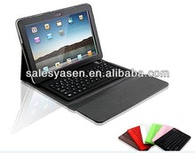 Pu leather bluetooth keyboard case for Samsung P7500 galaxy tab 10.1