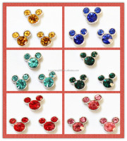 2016 Jewelry Mickey Minnie Mouse Floating Glass Locket Charms