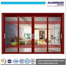 6063T5 Wooden grain office partition cabinet aluminum alloy door extrusion