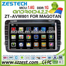 ZESTECH Best Quality 2 din 8 inch touch screen android radio gps car dvd player for VW golf 4