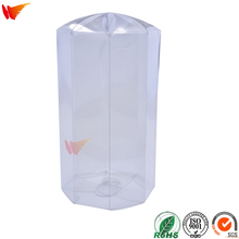 wanli brand custom pvc pet folding packaging boxes transparent plastic pp clear box