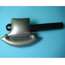 custom design axe shape inflatable sword for promotion,plastic hatchet pvc axe