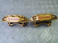 USED JDM BREMBO 4Pot Front Calipers Brake for Impreza WRX Rev7 8 9 GDB GDA STI
