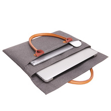 Laptop Protective Sleeve Case Leather <strong>Bag</strong> for Macbook Air Pro 12 13 14 15 Cover Notebook Handbag
