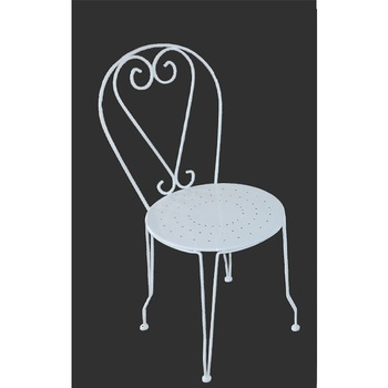 Outdoor Garden White Metal French Bistro Chair