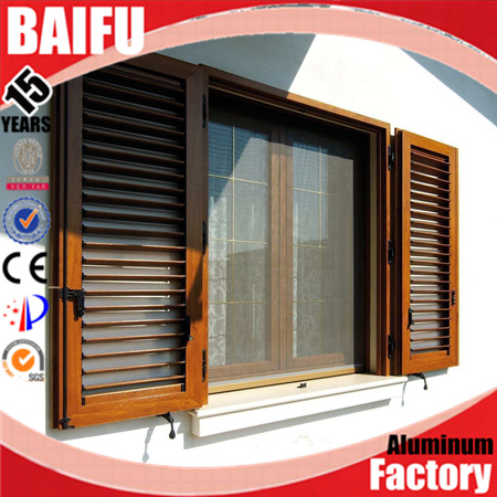 BaiFu Aluminium built in blind casement window with double tempered glass