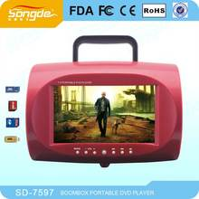 China por mayor Mini barato 7 pulgadas reproductor de DVD con USB SD radio