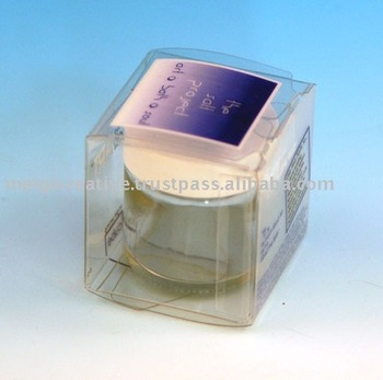 Clear Plastic Folding Box for Cosmetics