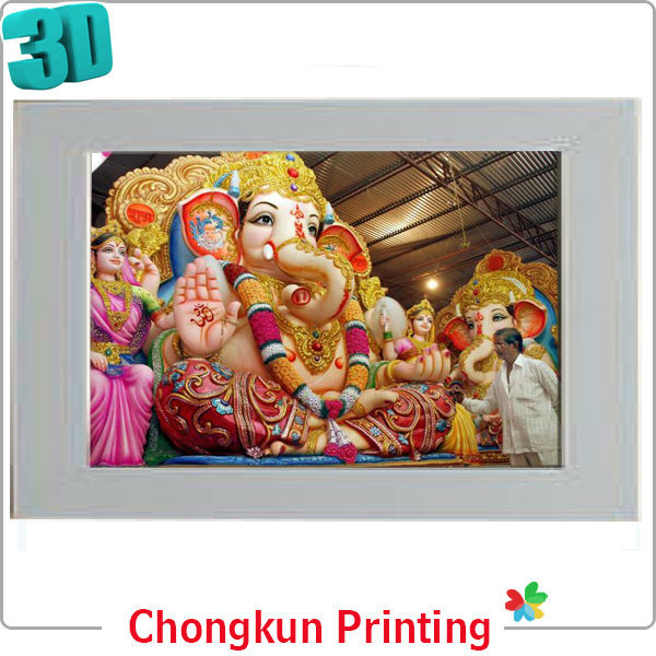3d lenticular indian god photo for printing gifts