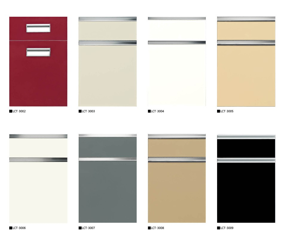 small thermofoil mdf glossy or pvc faced kitchen cabinet door
