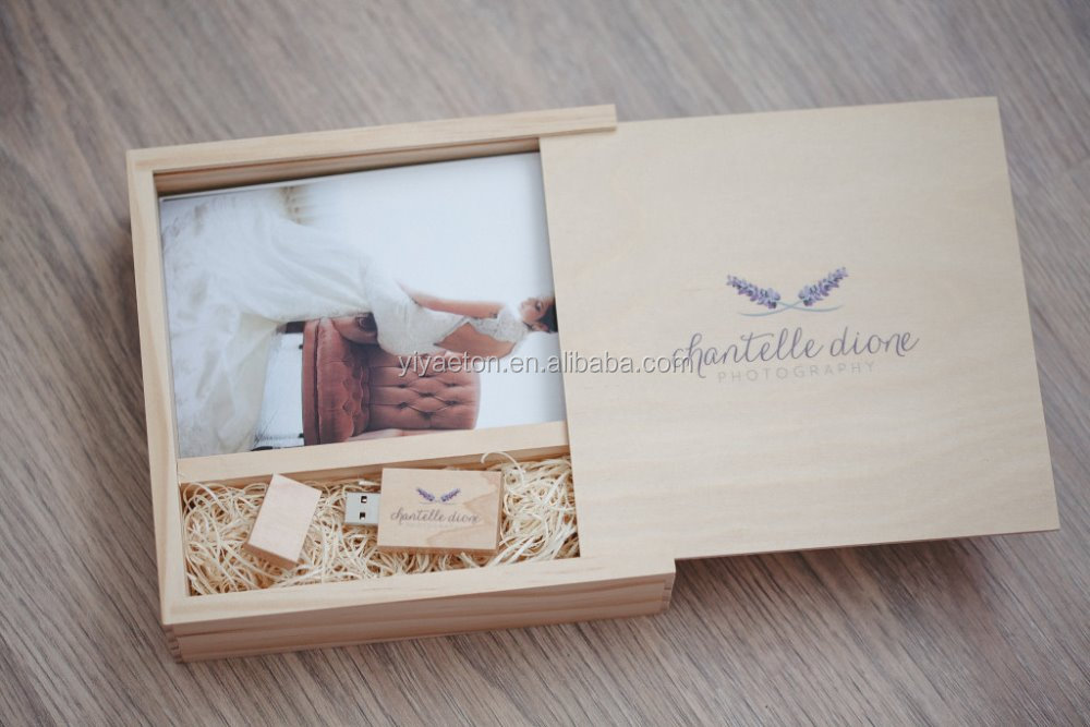 Custom design wood USB packing boxes drawer boxes