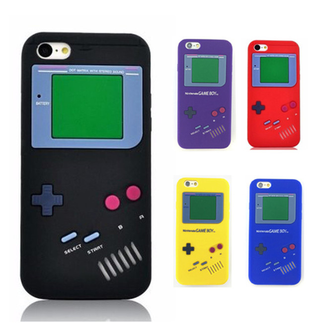 Coque Fundas Retro Gameboy 3D Shockproof Soft Silicone Back Case for iPhone 7 plus/6/6Plus