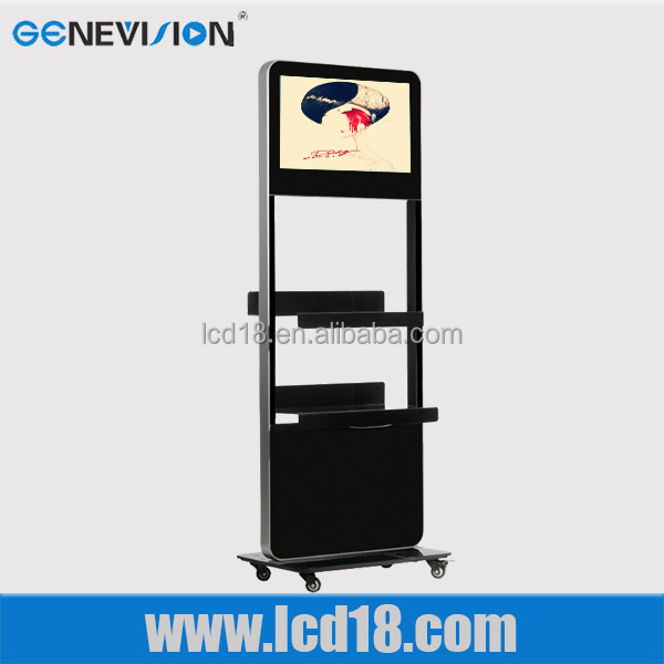 15inch digital signage kiosk display stand lcd <strong>screen</strong> by WiFi wireless or wired network