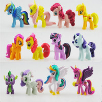 Plastic Mini Horse Figure Cute My Little Pony Toy Cartoon Model For kids