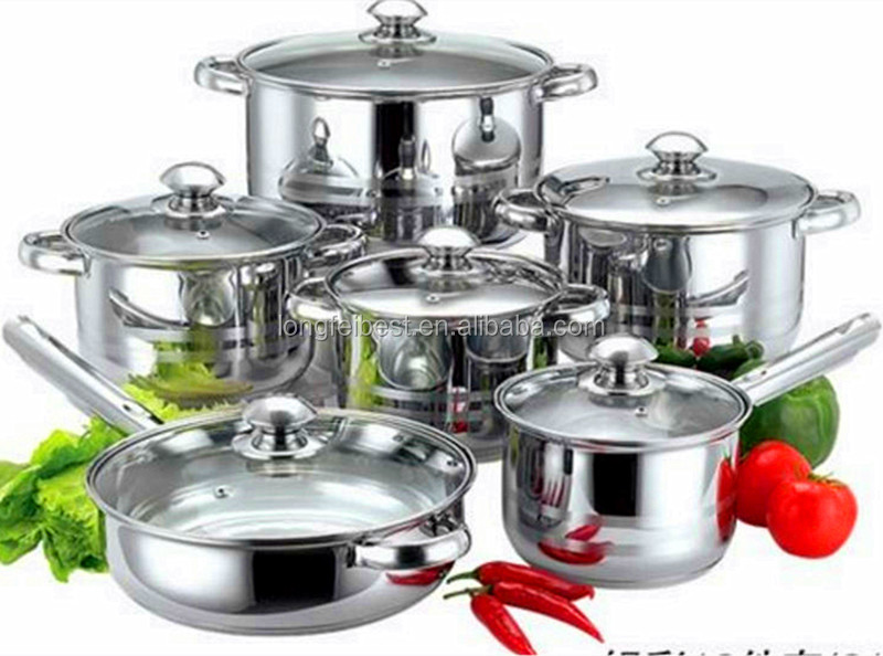 Best Selling <strong>Stainless</strong> Steel Cookware Set Kitchen Pot and Pan Sets, Cookware Set