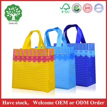 2016 factory High quality Cheap lace bow printed shopping bag, pp non woven bag wholesale, non woven promotional shopping bag