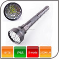 22000 lumens 18*T6 super light Powered by 26650 rechargeable battery 5 mode waterproof led torch flashlight