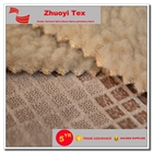 100% poly faux suede with sherpa fur fabric for cloth