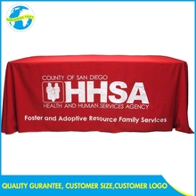 Factory Exhibition Polyester High Quality Advertise Trade Show Red Table Cover