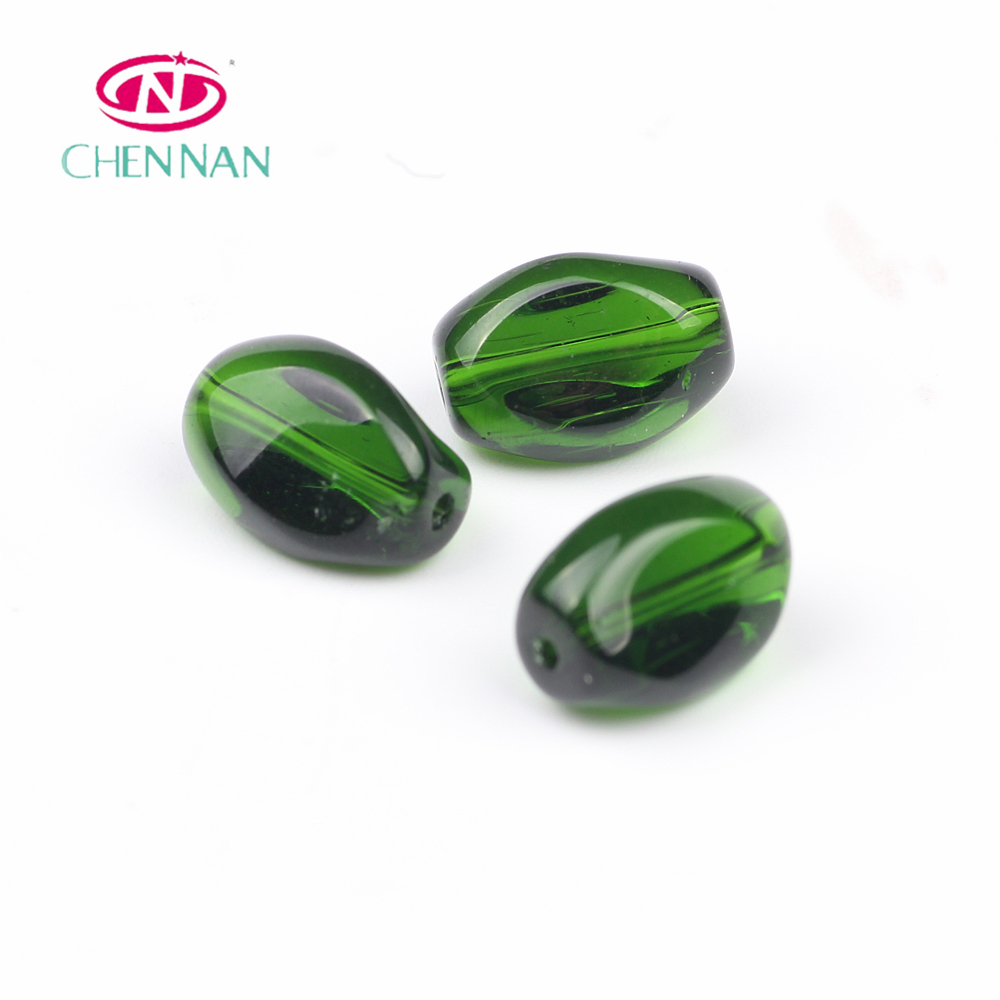2018 general accessories hand blown twist glass beads 6x9mm 8x12mm machine from yiwu