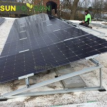 100 kw Flat roof solar panel mount solar energy system mounting