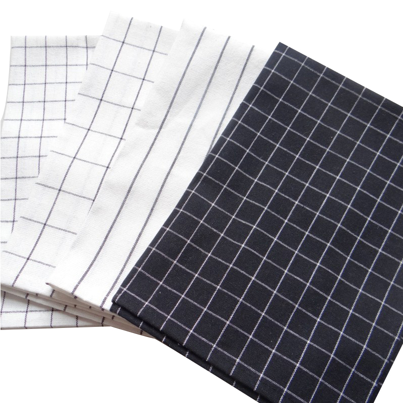 Ins yarn-dyed black check white striped back ground cloth home kitchen gourmet napkin tea towel kitchen towel