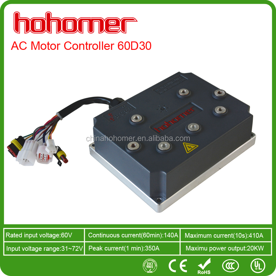 Vector Control 3 Phase AC Motor Controller Electric Vehicle DC60V 300A 20kW