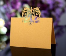 XWK8c hot sale Laser cut wedding decoration table paper numbers name <strong>card</strong>