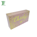 Wholesale custom beauty cosmetics pink packaging glitter paper gift box