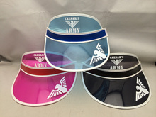 custom design fashion colorful summer sun visor