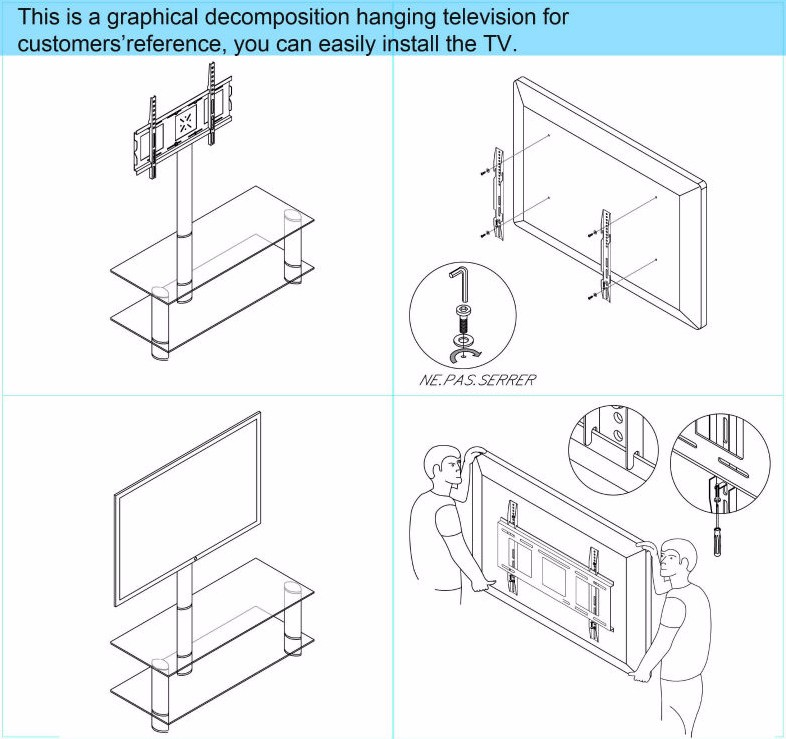 factory professional tv bracket sale