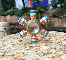 brass fidget spinner stress reducer hand spinner