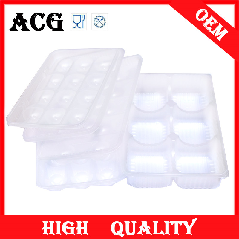 Food baking plastic tray mould for cooking