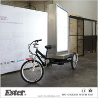 ESTER Electric Billboard Advertising decorative triciclo Trike with LED lights