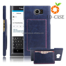 Factory cheap Classic wallet style leather flip cover case for Blackberry priv