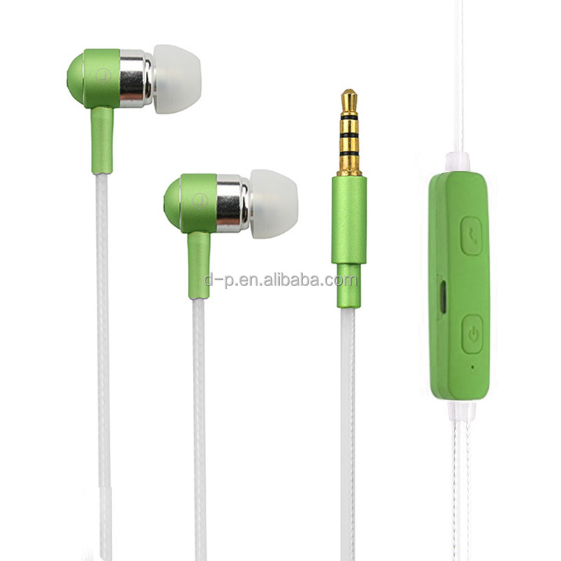 Glow in dark silicone earbuds handsfree color changing LED light earphone