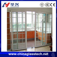 environment friendly latest style heat insulation pvc slding door upvc window profile and frost glass