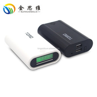 TOMO V8-3 Smart 18650 Portable Power Bank & Battery Charger 2 in 1 with Double Output and LCD display (Black)