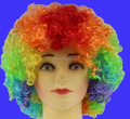 Cheapest customer clourful synthetic afro clown wig for carnival event