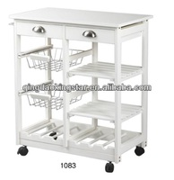 wooden kitchen trolley prices with wheels