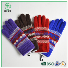 Sales promotion acrylic knitted winter gloves