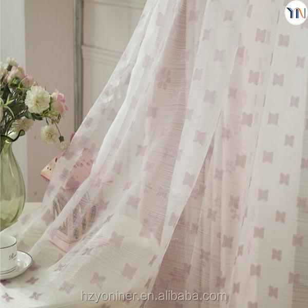 Exquisite floral jacquard blackout curtain and floral print sheer curtain for high-end home decoration ready made curtain