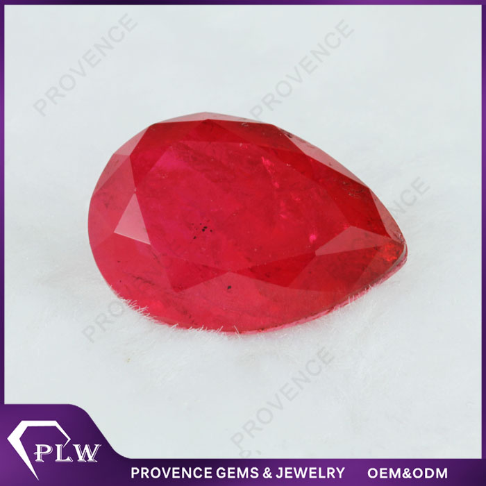Buying 1 carat Lab red Ruby loose gemstone for sale