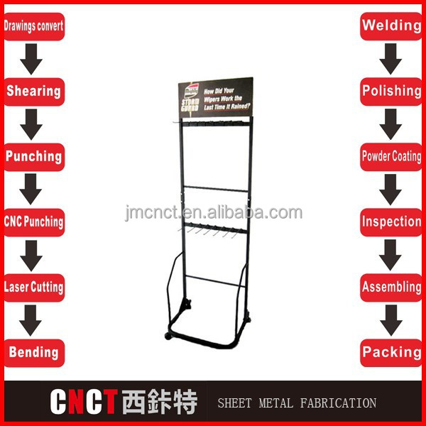 contracted style steel metal magazine stands for shop