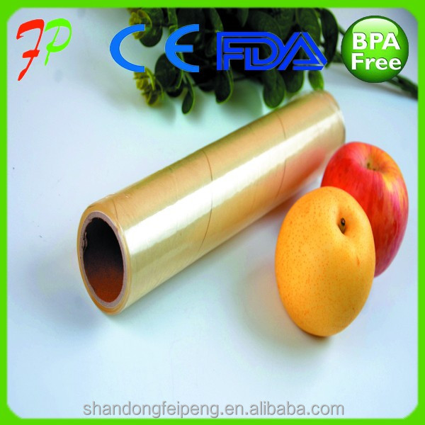Transparent Transparency and Soft Hardness <strong>pvc</strong> cling film for food wrap