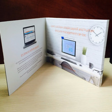 "customized business video card2.4"" promotional lcd greeting card"