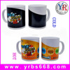 Factory direct sales unique promotional gift customized logo water transfer printing color changing magic mug