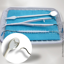 Daily disposable dental examination sterile kit 5 in 1, disposable dental Hand Instruments
