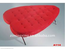 red heart shape sofa bed